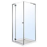 BENITA душевая кабина квадратная 900x900x2000мм поддон PUF 5 см с сифоном левая распашная профиль хром стекло