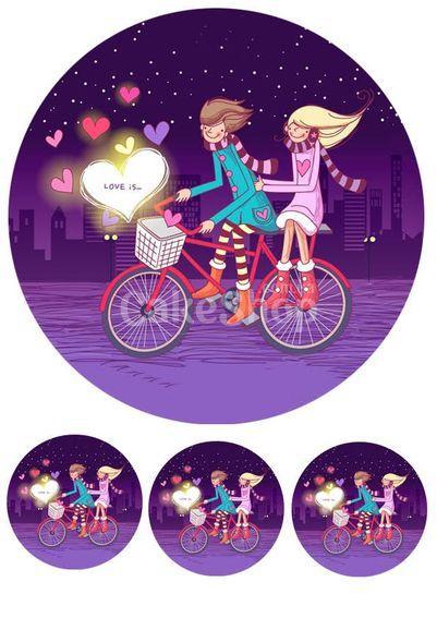 Вафельная картинка День Св. Валентина 34