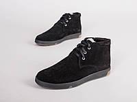 Зимние ботинки черная замша 40