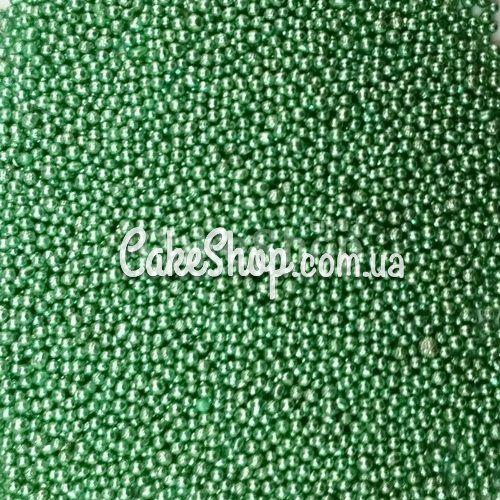 Посыпка шарики Зелёные металлик 1 мм, 50 г