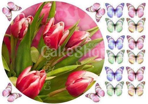 Сахарная картинка Тюльпаны 1