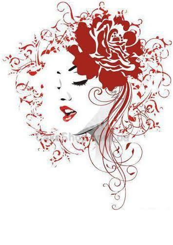Сахарная картинка Рисунок девушки 3