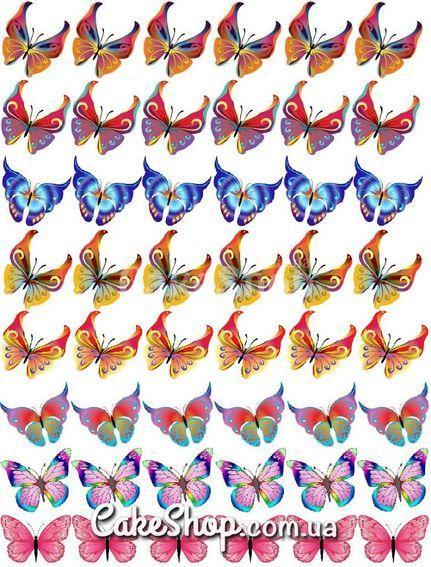 Сахарная картинка Бабочки 3