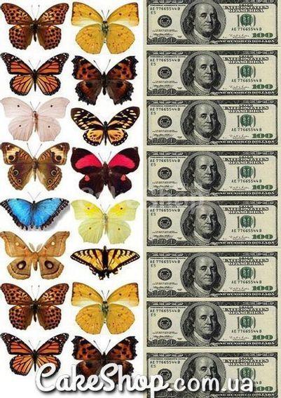 Сахарная картинка Бабочки 4