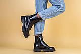 Ботинки женские кожа питон черные зимние, фото 2