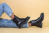 Ботинки женские кожа питон черные зимние, фото 5