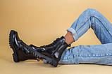 Ботинки женские кожа питон черные зимние, фото 6