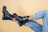 Ботинки женские кожа питон черные зимние, фото 7