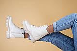 Ботинки женские кожа флотар бежевые, на шнурках, с молнией, зима, фото 7