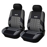 Автомобильные чехлы на передние сиденья Adenki 2 штуки универсальный размер Черно-серый 46-891711, КОД: