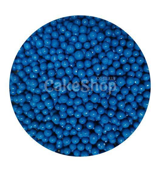 Посыпка шарики глянцевые Синие 5 мм