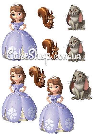 Сахарная картинка Принцесса София 10