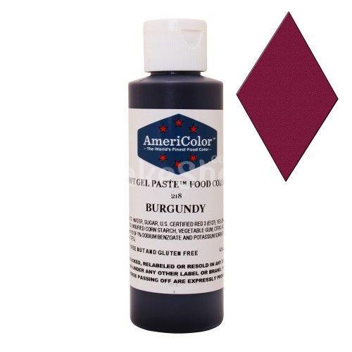 Краситель гелевый Бордовый Burgundy AmeriColor 128 г