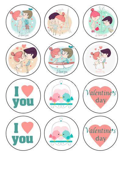 Вафельная картинка День Св. Валентина 13