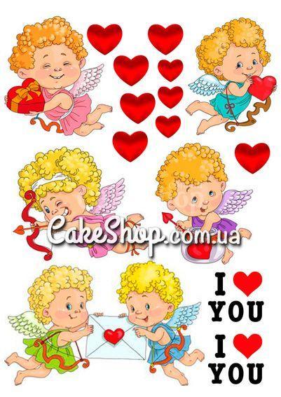Сахарная картинка День Св. Валентина 11