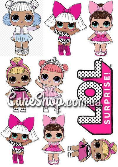 Сахарная картинка Куклы LOL 2