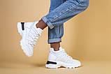 Кроссовки женские кожаные белые, зимние, фото 3