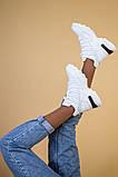 Кроссовки женские кожаные белые, зимние, фото 6