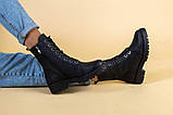 Ботинки женские кожаные матовые черные зимние, фото 6