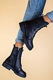 Ботинки женские кожаные матовые черные зимние, фото 7