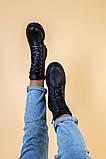 Ботинки женские кожаные матовые черные зимние, фото 8