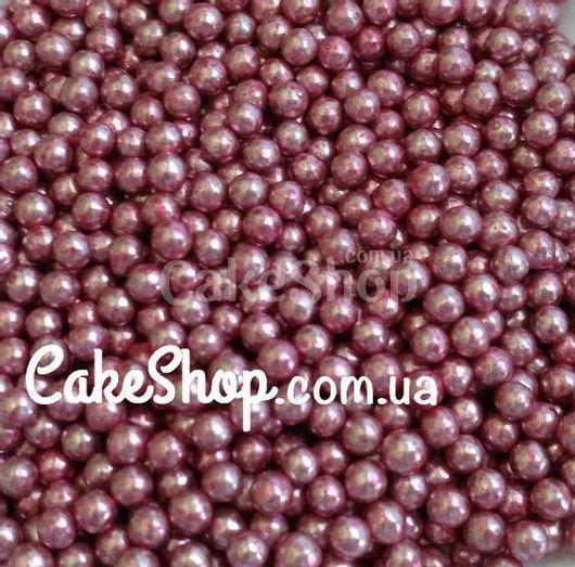 Посыпка шарики Розовые металлик 2 мм.