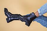 Ботинки женские кожаные черного цвета, зимние, фото 6