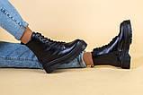 Ботинки женские кожаные черного цвета, зимние, фото 5