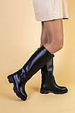 Сапоги женские кожаные черные зимние, фото 2