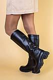 Сапоги женские кожаные черные зимние, фото 4