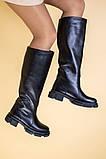 Сапоги женские кожаные черные зимние, фото 6
