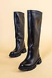 Сапоги женские кожаные черные зимние, фото 8