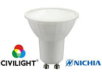 LED лампа MR16 (GU10) 5W (450Lm) 3000K W2F11T5 ceramic Civilight (Сивилайт)