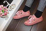 Слипоны женские на шнурках пудровые Т1211, фото 3