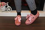 Сліпони жіночі на шнурках пудровi Т1211, фото 4