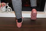 Слипоны женские на шнурках пудровые Т1211, фото 5