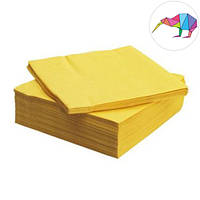 Салфетки сервировочные двухслойные, жолтые  33 х 33 см (200 шт.)