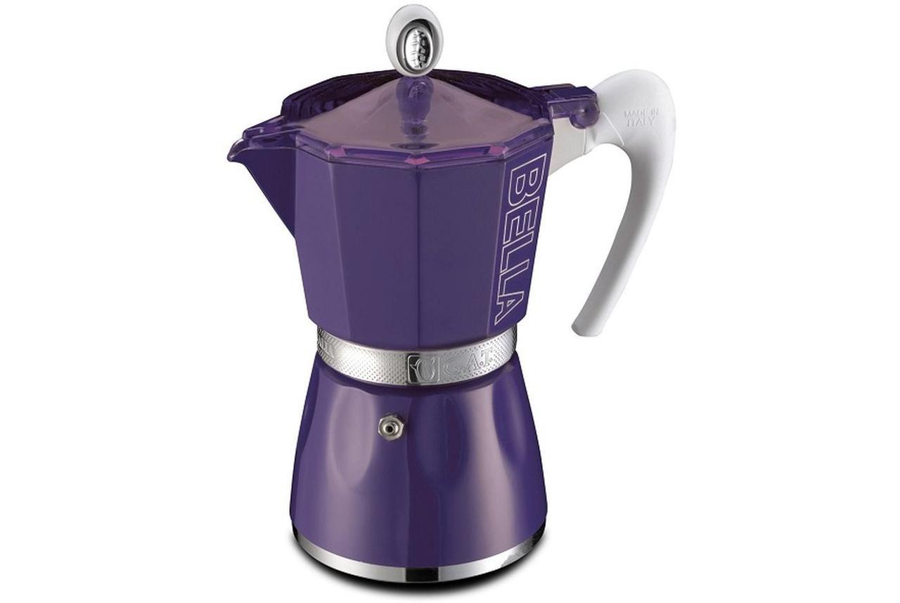 Гейзерная кофеварка GAT Bella фиолетовая на 3 чашки