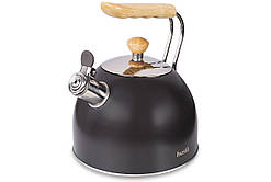 Чайник со свистком HUSLA 2.5 л. корич. (73908)