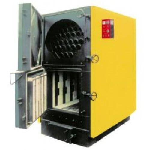 Промышленный котел на твердом топливе длительного горения Буран КТВСр 200 (на дровах, угле, древесных отходах)