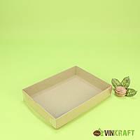 Коробка 200*150*35 для пряніка з ПВХ кришкою, крафт