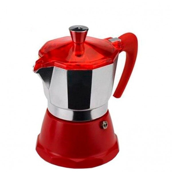 Гейзерная кофеварка GAT FANTASIA красная на 6 чашек (106006) red