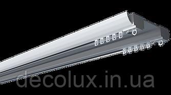 Карниз потолочный алюминиевый усиленный  двухрядный, DS-2 Белый