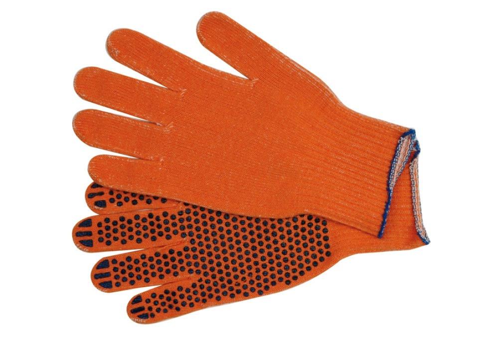 Рукавички з точкою ПВХ помаранчеві 10 клас 2 нитки