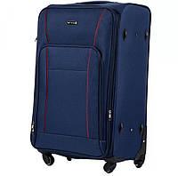 Дорожный тканевый чемодан 4колеса Wings 1609 L  синий, фото 1