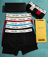 Трусы мужские 5 шт кельвин кляйн Calvin Klein в подарочной упаковке Боксеры трусы транки кельвин кляйн