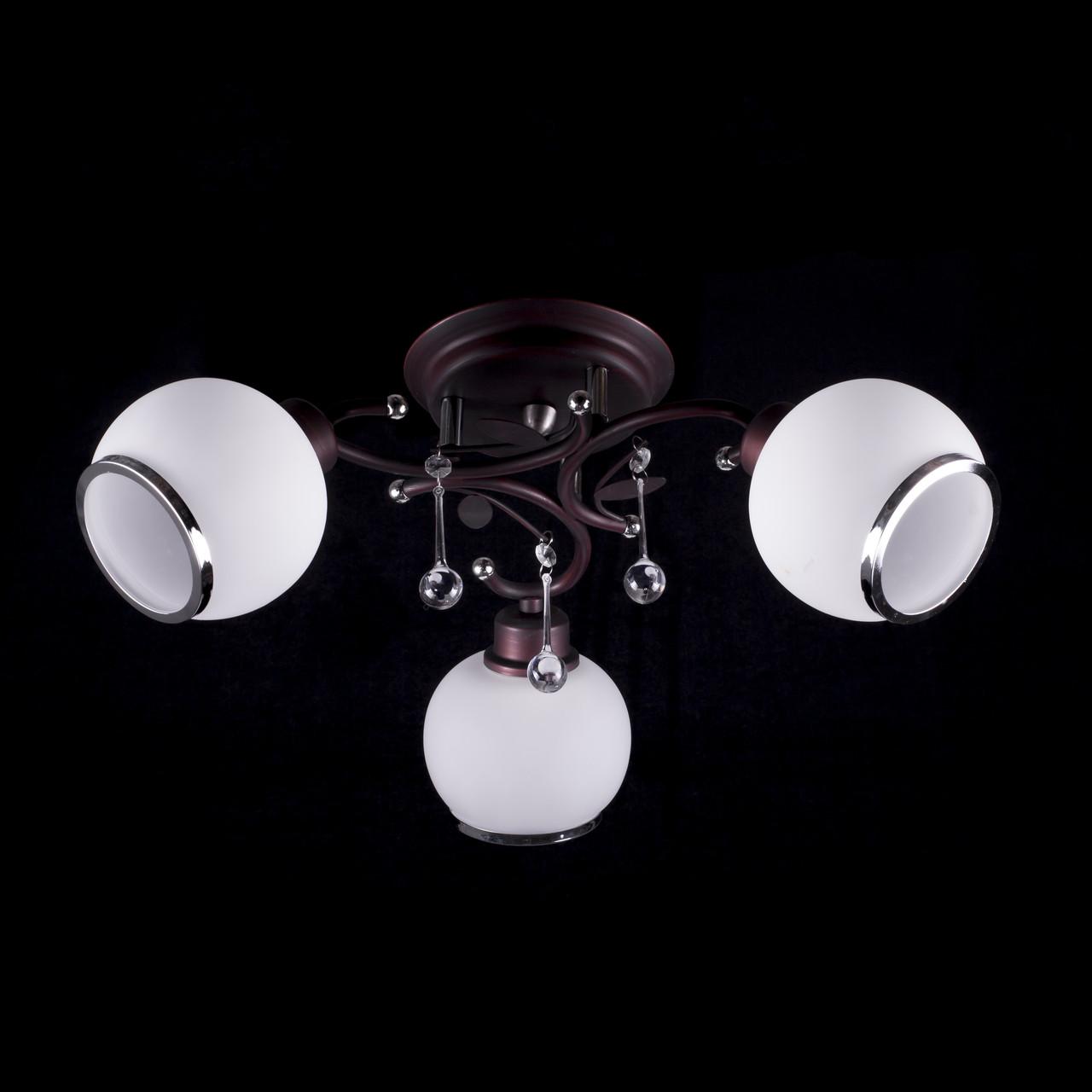 Люстра на 3 лампочки P3-37390/3C/CD+CR+WT