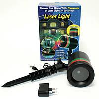 Уличный новогодний лазерный проектор для дома Laser Light Лазерная установка Шовер Звездное небо