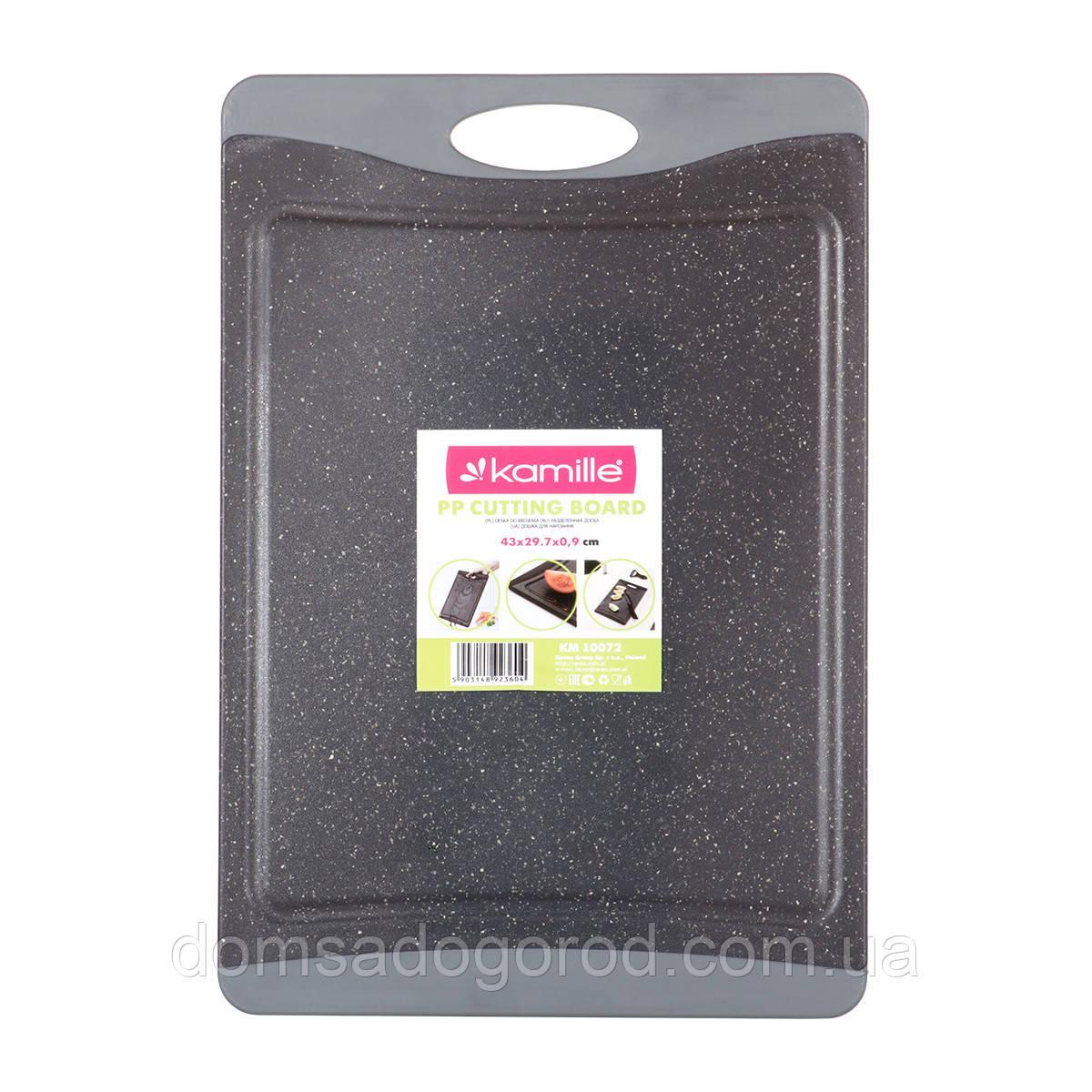 Доска разделочная  43х29,7cm Kamille пластиковая KM-10072