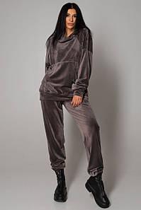 Жіночий спортивний велюровий костюм на хутрі (Веллі jd)